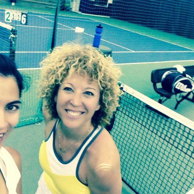 Retour de ma partner en or au tennis une grossehellip