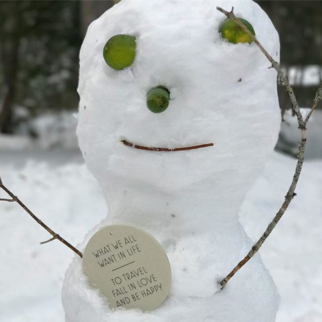 Voil un bonhomme de neige trs sage  bonhommedeneige winterhellip
